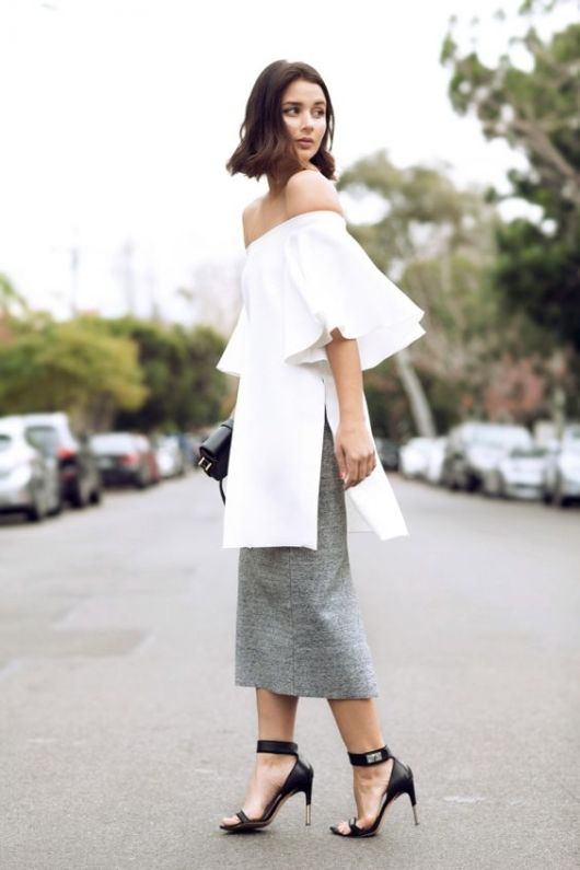 bell sleeves skirt
