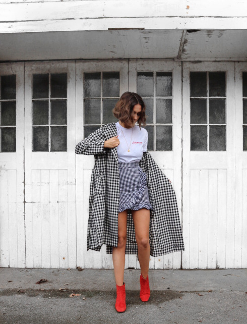 gingham double